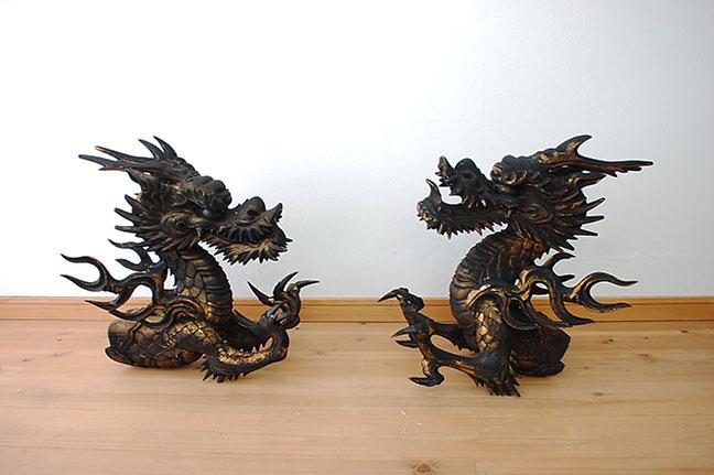 奈良県 奈良市 遺品整理 蔵整理 仏像 木彫 彫... 奈良市にて仏教美術の龍木彫り、仏像を買取
